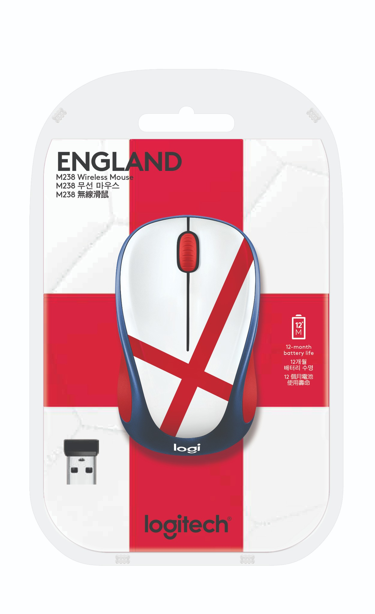 Logitech M238 Wireless - World Cup Edition - England