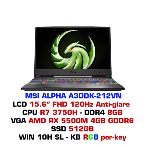Laptop Gaming MSI Alpha A3DDK 212VN