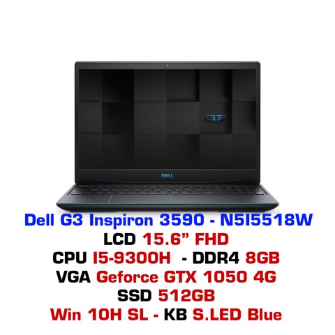 Laptop Gaming Dell G3 Inspiron 3590 N5I5518W