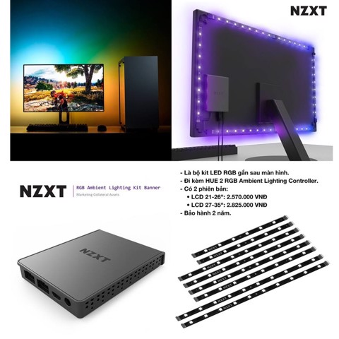 NZXT Ambient Lighting Kit Banner - LCD 27-35