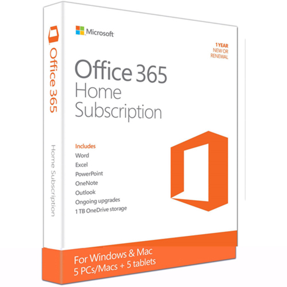 Office 365 Home English APAC EM Subscr 1YR Medialess P2 (6QG-00757)