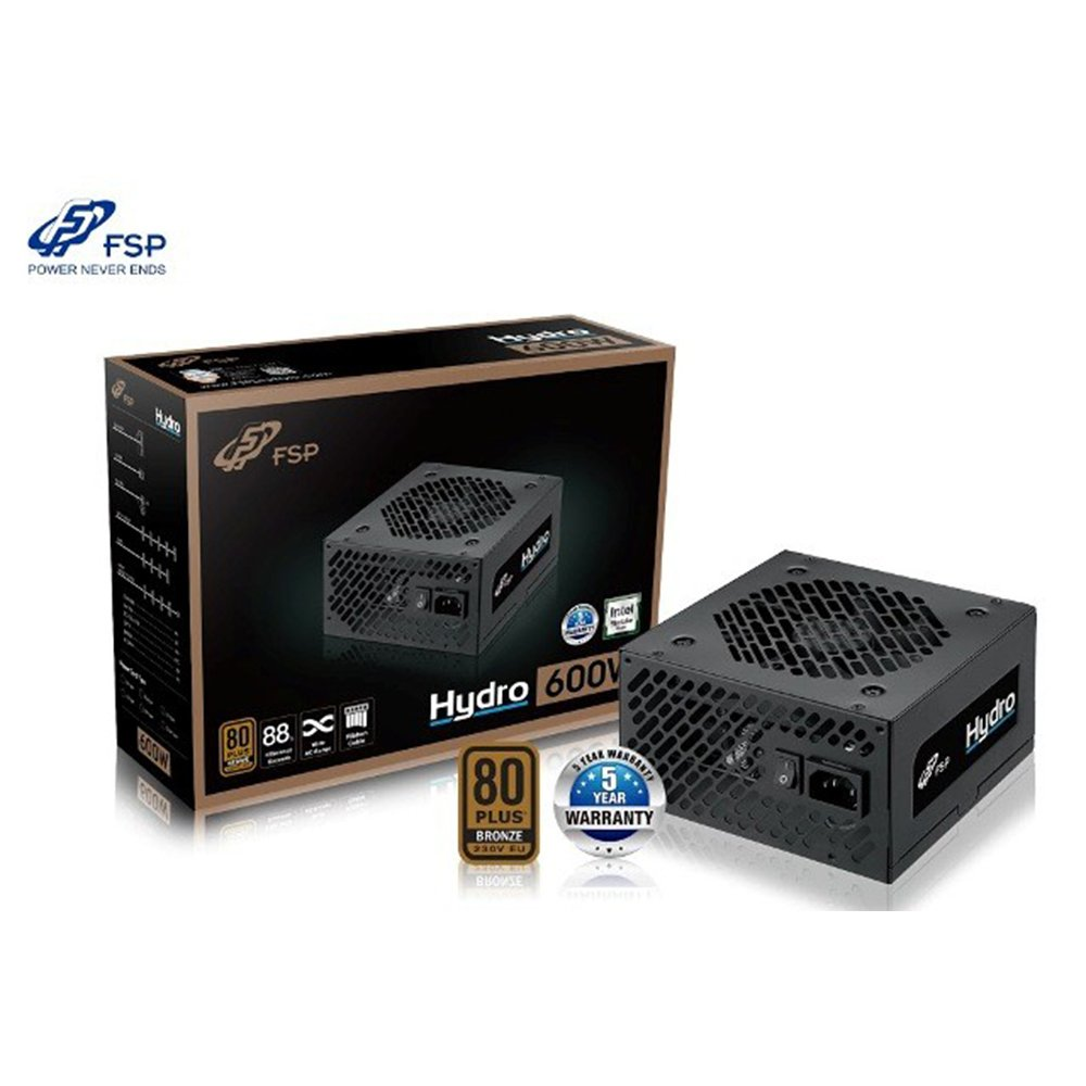 (600W Bronze) Power FSP Hydro 600W