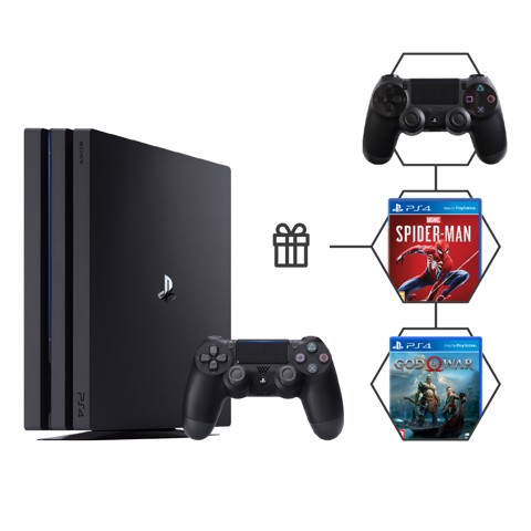 Sony PlayStation 4 Pro 1TB (2 tay cầm + 2 game)