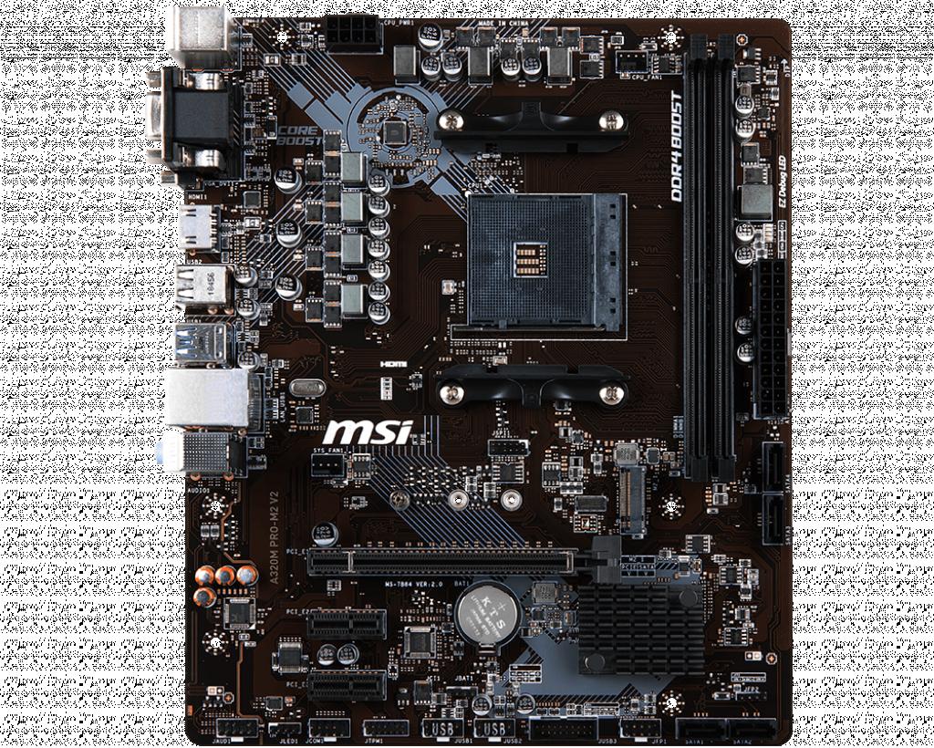 MSI A320M PRO-M2 V2 (AMD Socket AM4)