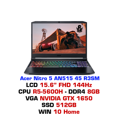 Laptop gaming Acer Nitro 5 AN515 45 R3SM