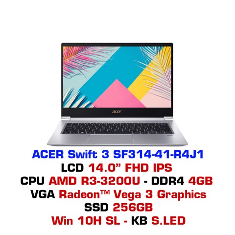 Laptop Acer Swift 3 SF314-41 R4J1 Bạc