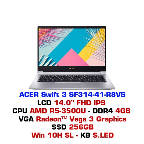 Laptop Acer Swift 3 SF314-41 R8VS Bạc