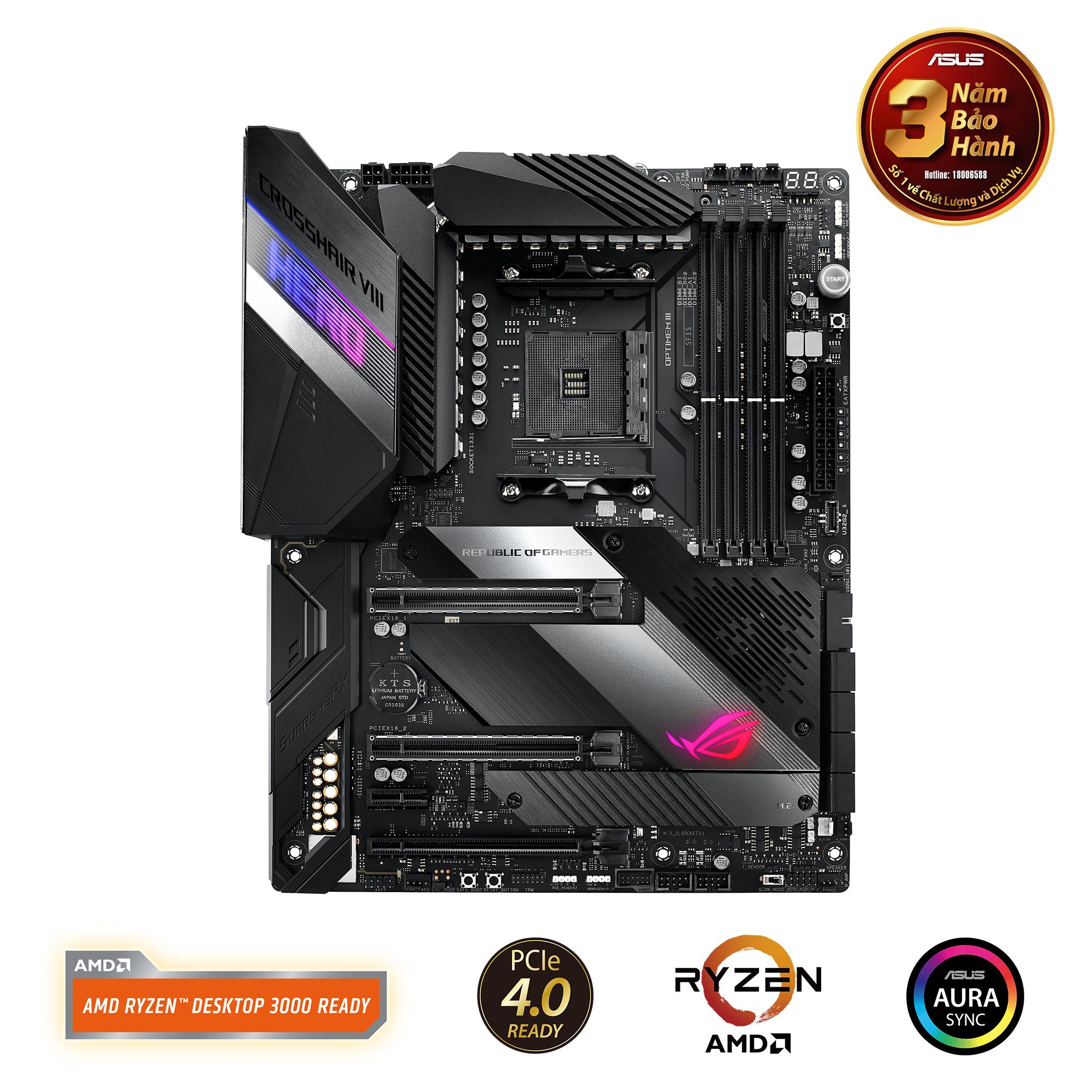 ASUS CROSSHAIR VIII HERO X570 (AMD Socket AM4)