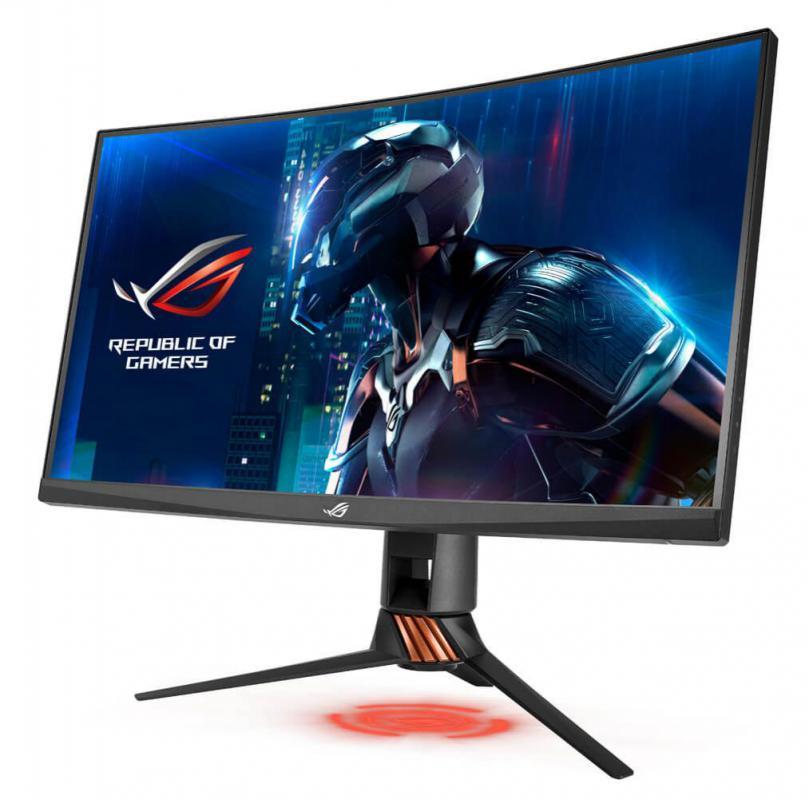 ROG Swift PG27VQ Curved Gaming Monitor – 27 inch 2K WQHD (2560x1440), overclockable 165Hz, 1ms, G-SYNC, Aura Sync Technology