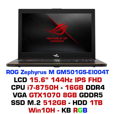 Laptop Gaming ASUS ROG Zephyrus M GM501GS-EI004T