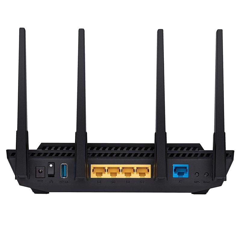 ASUS RT-AX58U Wifi AX3000 2 băng tần, Wifi 6 (802.11ax), AiMesh 360 WIFI Mesh, AiProtection, USB 3.1