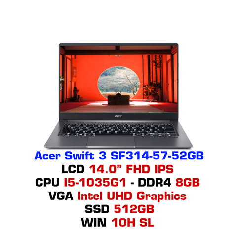 Laptop Acer Swift 3 SF314-57 52GB