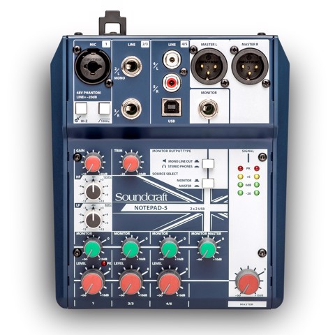 Mixer Soundcraft Notepad 5