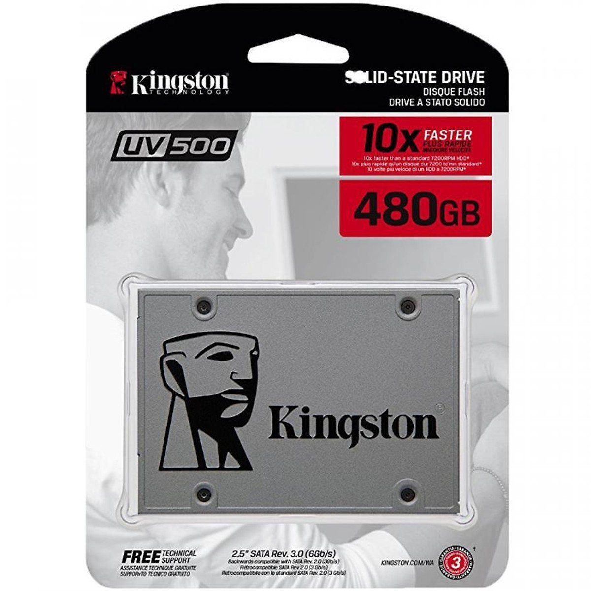 SSD Kingston UV500 3D-NAND SATA III 480GB