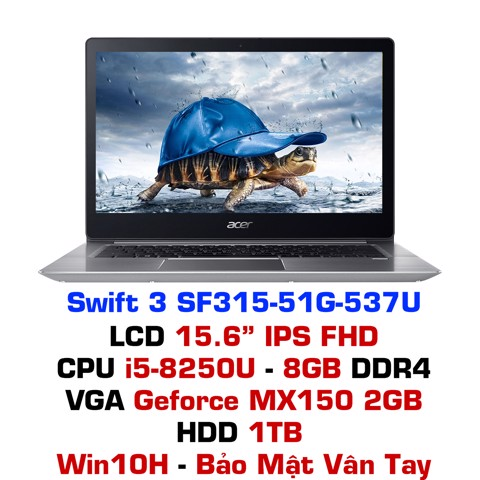 Laptop Acer Swift 3 SF315-51G-537U - Xám bạc