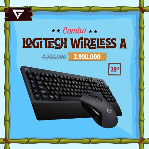 Combo Logitech Wireless A