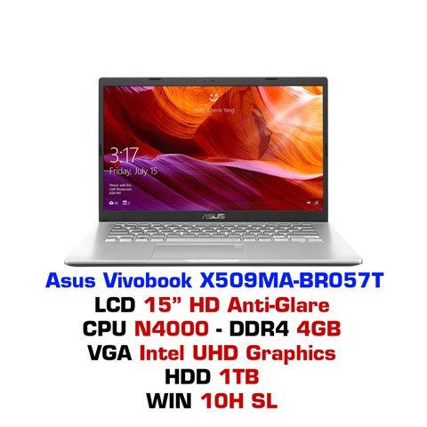 Laptop Asus Vivobook X509MA BR057T (SILVER)