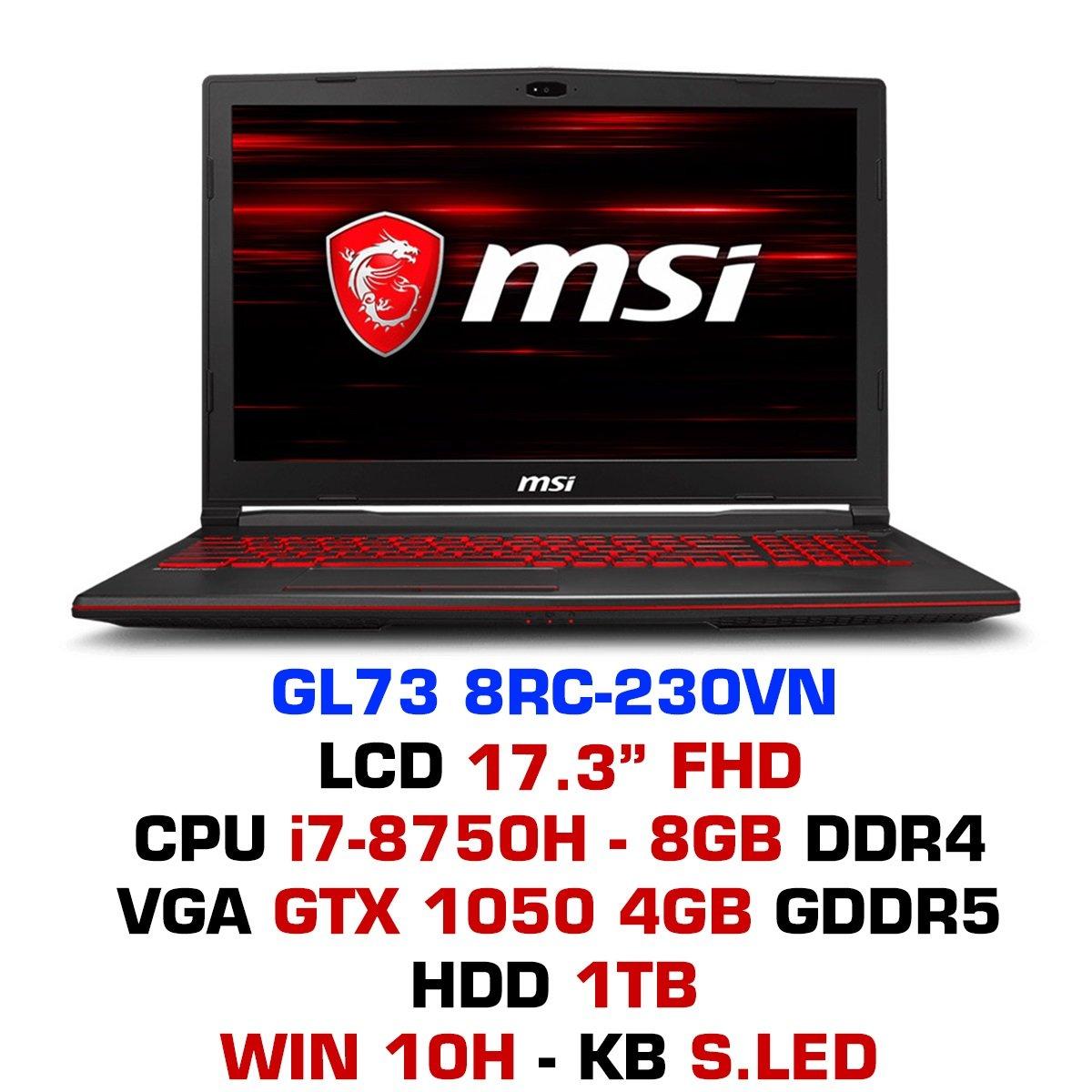 Laptop Gaming MSI GL73 8RC-230VN