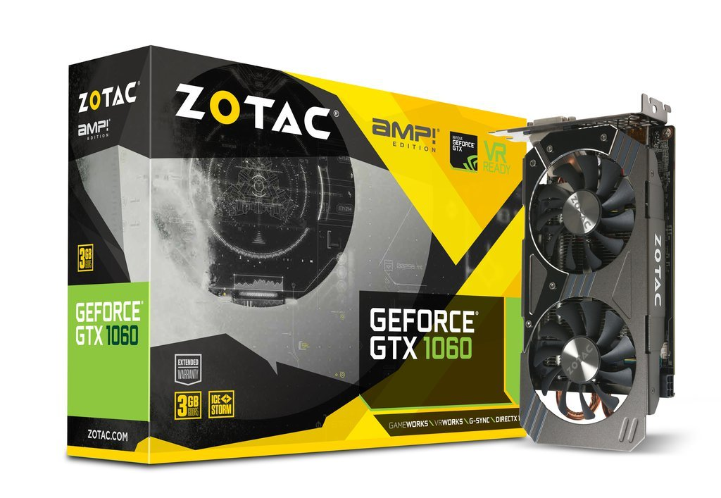 ZOTAC GeForce® GTX 1060 3GB AMP! Edition