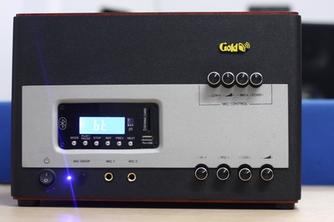Amply A500 - 500w Gold4cafe - USB,  Bluetooth, Micro.
