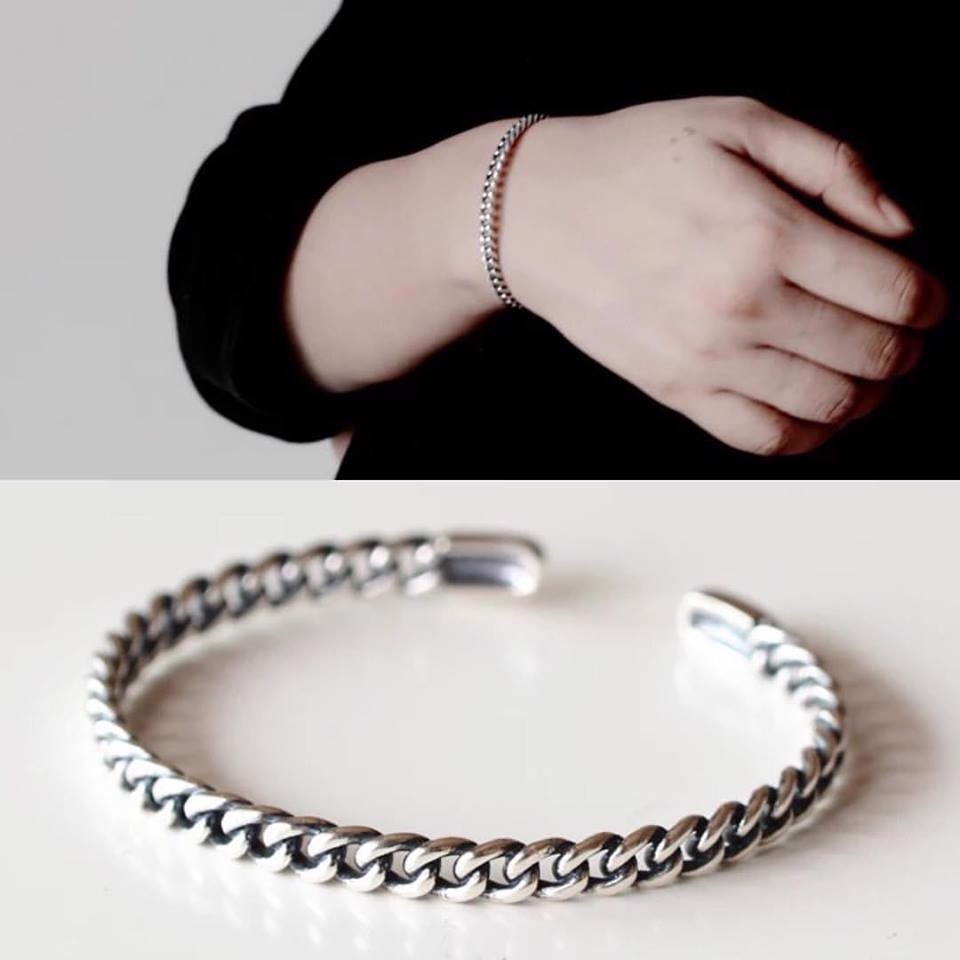 Kiềng bạc Chain bangle