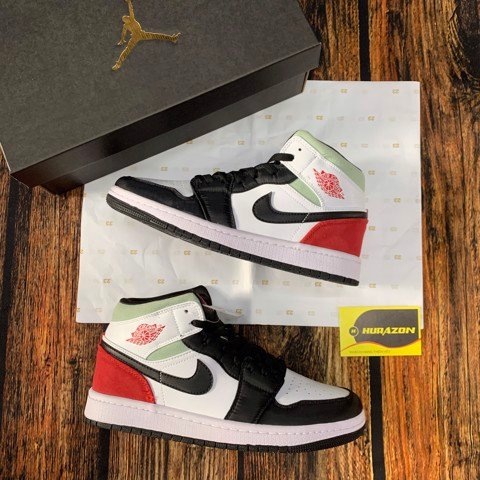 Jordan 1 mid union red JDM11