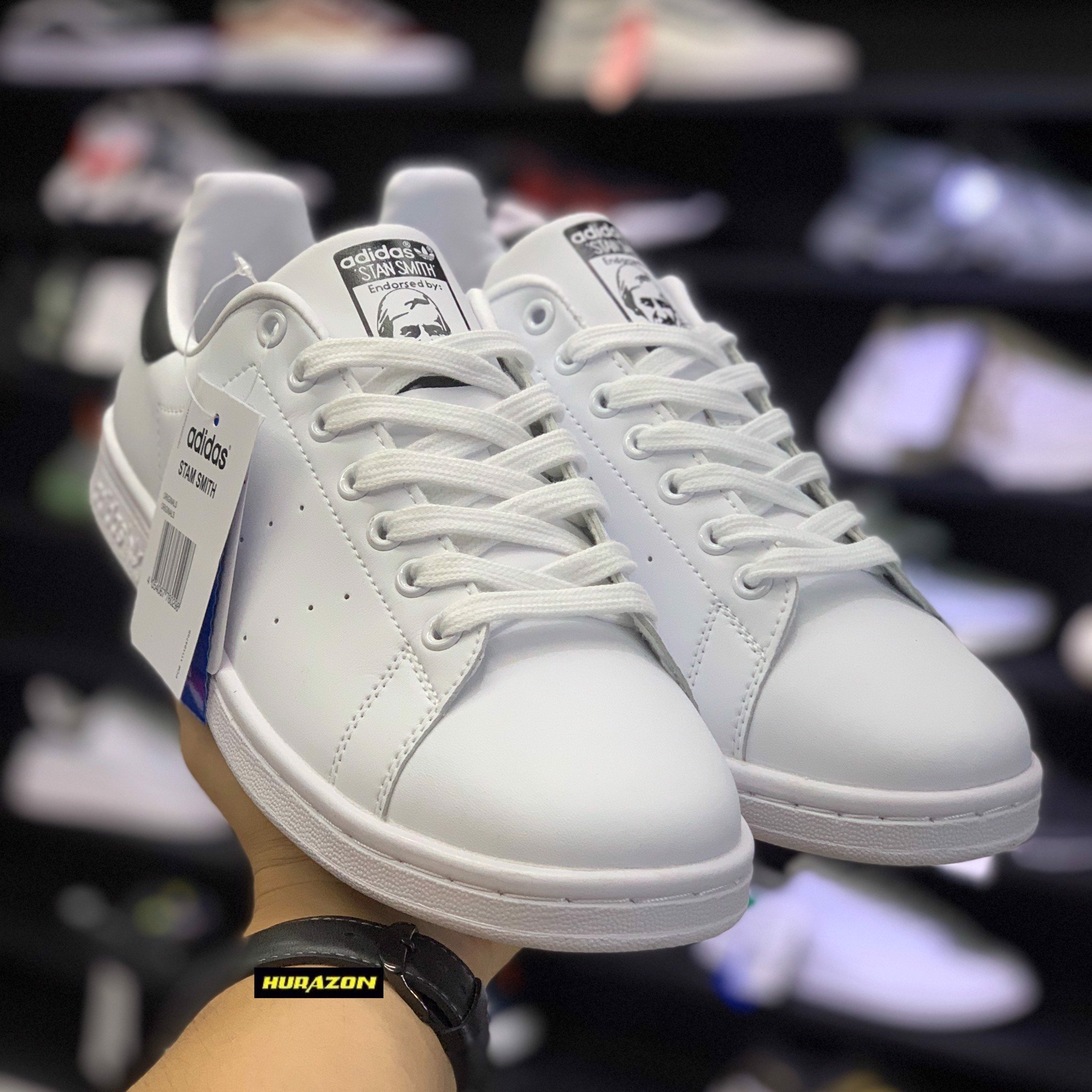 Stan Smith trắng đen STS046