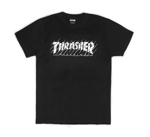 THRASHER THRASHED T-SHIRT BLACK