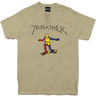 THRASHER GONZ T-SHIRT TAN
