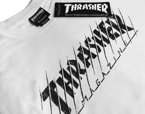 THRASHER THRASED T-SHIRT WHITE