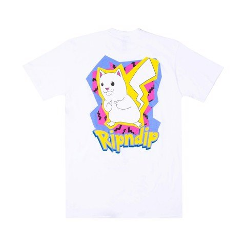 RIPNDIP, CATCH EM ALL T-SHIRT WHITE