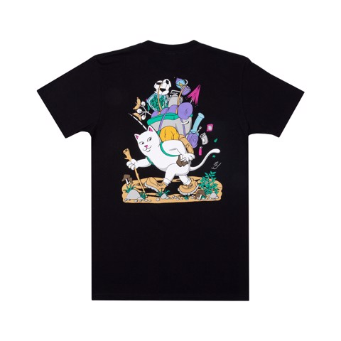 RIPNDIP, HIKER NERM T-SHIRT BLACK