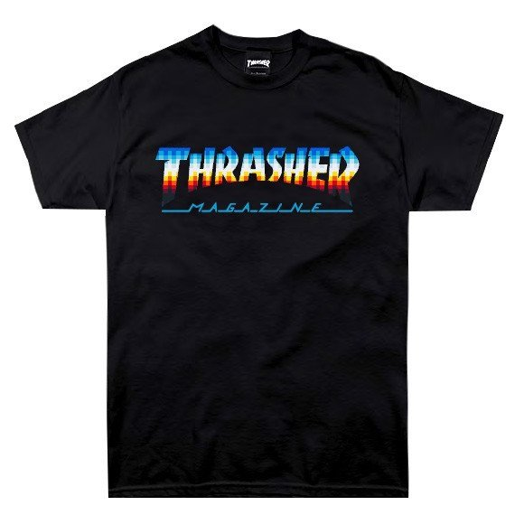 THRASHER HOMETOWN GLITCH T-SHIRT BLACK