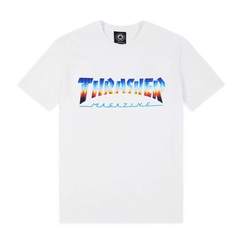 THRASHER HOMETOWN GLITCH T-SHIRT WHITE