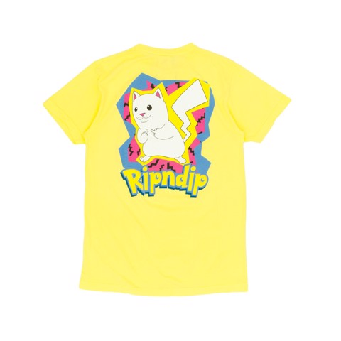 RIPNDIP, Catch Em All T-Shirt Yellow