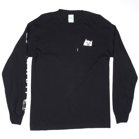 RIPNDIP, Lord Nermal Pocket L/S Black