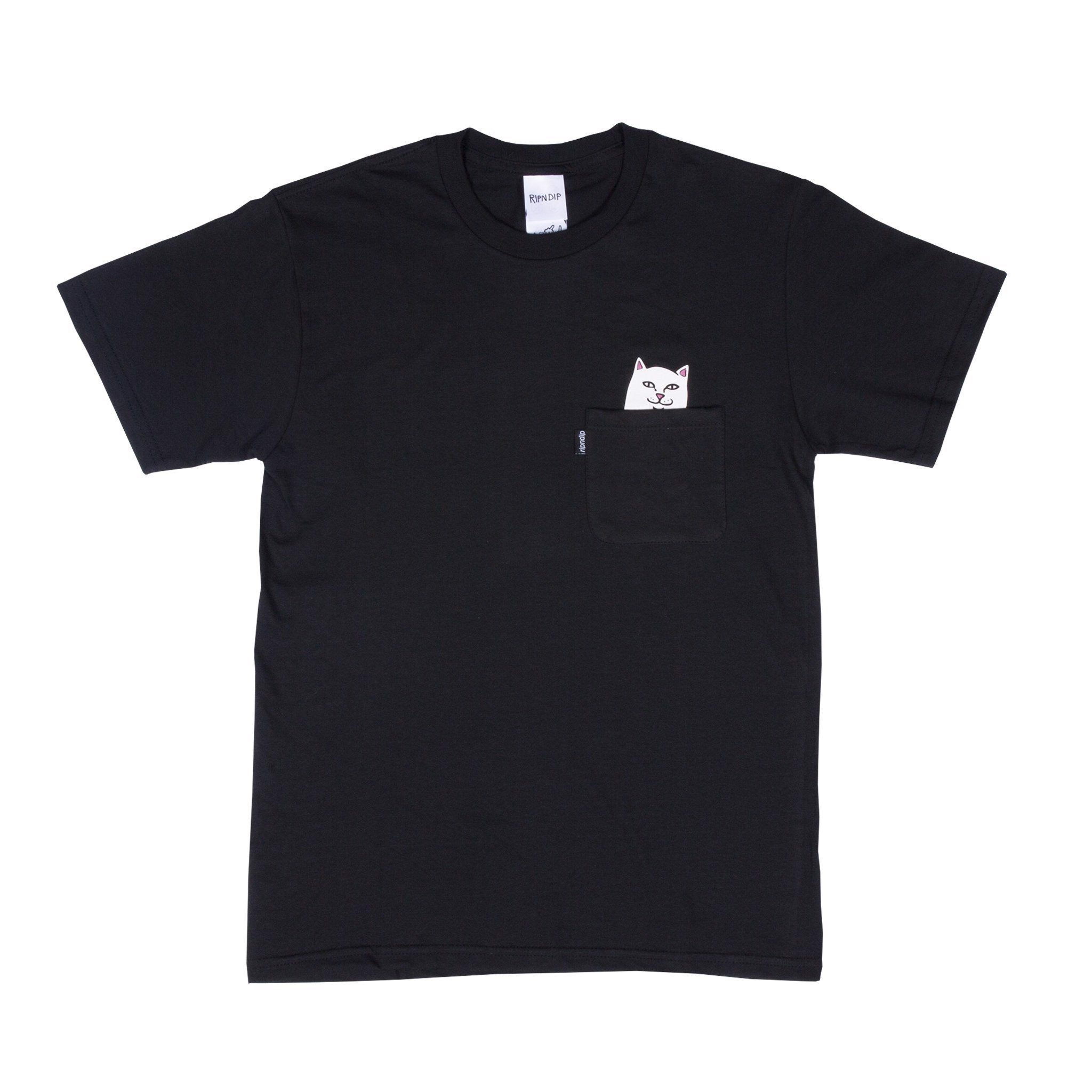 RIPNDIP, Lord Nermal Pocket T-Shirt Black