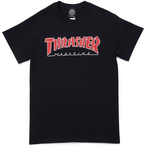 THRASHER OUTLINED T-SHIRT BLACK