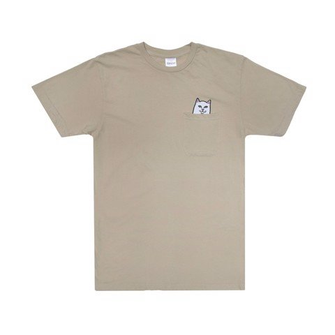 RIPNDIP, Lord Nermal Pocket T-Shirt Tan