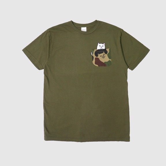 RIPNDIP, Lord Nermal Pocket T-Shirt Army Camo