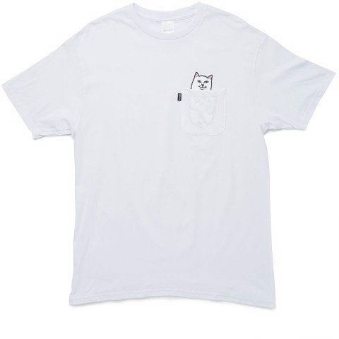 RIPNDIP, Lord Nermal Pocket T-Shirt White