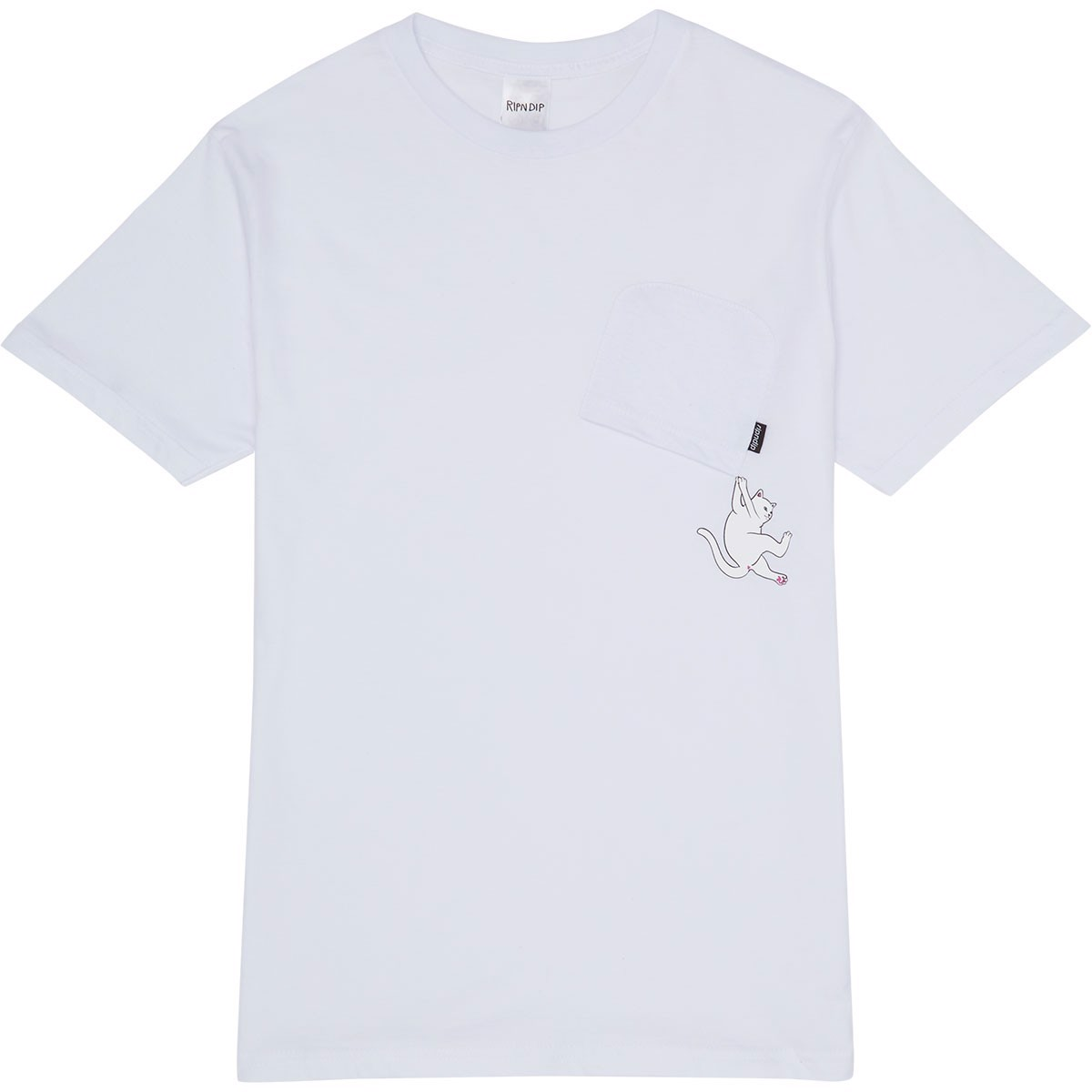 RIPNDIP, Hang In There Nermal Pocket T-Shirt White