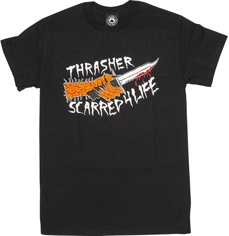 THRASHER SCARRED T-SHIRT BLACK