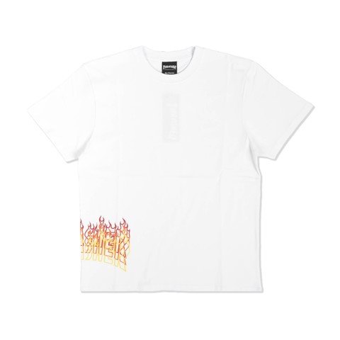 THRASHER SIDE FLAME OVERLAY T-SHIRT WHITE