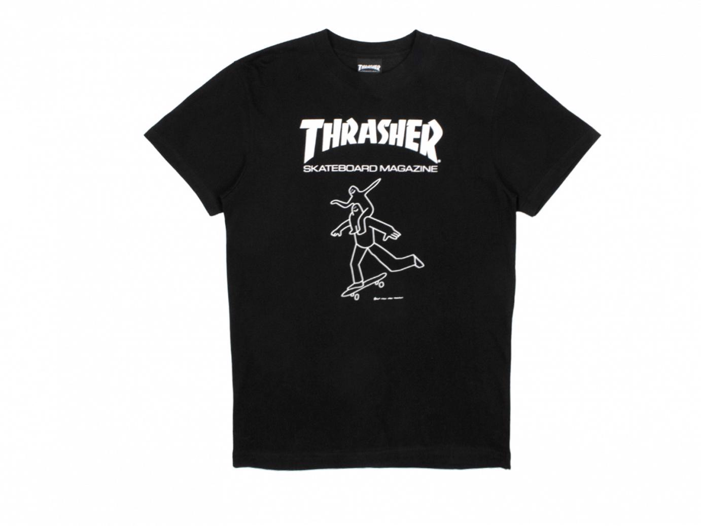 THRASHER GONZ BUDS T-SHIRT BLACK
