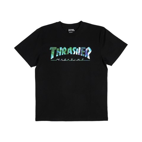 THRASHER TYE DYE S/S T-SHIRT BLACK