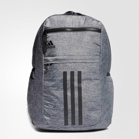 League 3 Stripe Backpack Grey