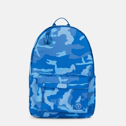 Vintage Woodland Camo Blue Backpack