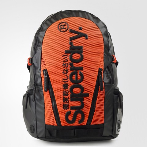 Mesh Tarp Backpack Black/Orange
