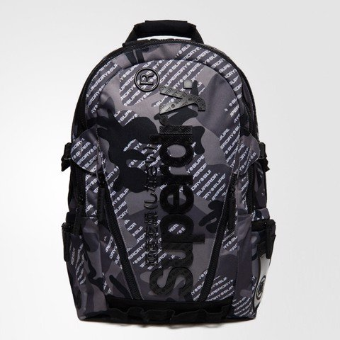 Camo Logo Backpack Grey